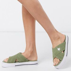 Converse One Star Sandals Slip on Slides 567723C